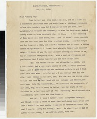 Letter from Katherine Anne Porter to Gay Porter Holloway, July 21, 1924