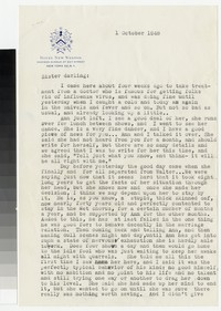 Letter from Katherine Anne Porter to Gay Porter Holloway, October 01, 1948