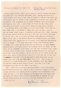 Letter from Katherine Anne Porter to Isabel Bayley and W. Hewitt Bayley, May 15, 1955