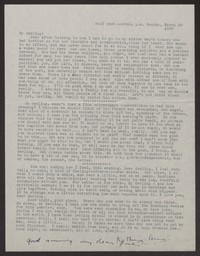 Letter from Katherine Anne Porter to Albert Erskine, March 28, 1938