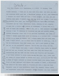 Letter from Katherine Anne Porter to Gay Porter Holloway, January 15, 1966