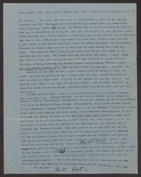 Letter from Katherine Anne Porter to Ann Holloway Heintze, August 30, 1960