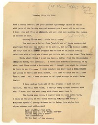Letter from Katherine Anne Porter to Delafield Day Spier, July 17, 1928