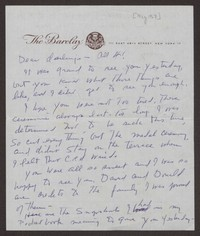 Letter from Katherine Anne Porter to Ann Holloway Heintze, Walter T. Heintze, David P. Heintze, and Donald B. Heintze, circa May 1967