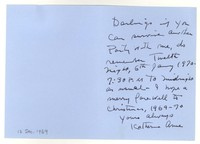 Letter from Katherine Anne Porter to Isabel Bayley and W. Hewitt Bayley, December 12, 1969