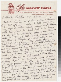 Letter from Katherine Anne Porter to Gay Porter Holloway, October 27, 1956