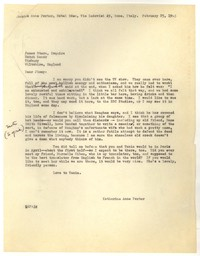Letter from Katherine Anne Porter to James Stern, February 25, 1963