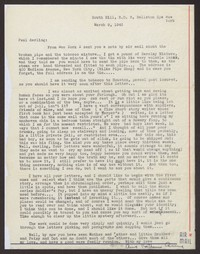 Letter from Katherine Anne Porter to Paul Porter Jr., March 09, 1943