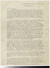 Letter from Katherine Anne Porter to Gay Porter Holloway, October 09, 1950