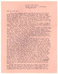 Letter from Katherine Anne Porter to William Goyen, August 12, 1951