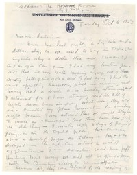 Letter from Katherine Anne Porter to Isabel Bayley, October 06, 1953