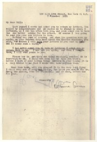 Letter from Katherine Anne Porter to William Goyen, December 07, 1951