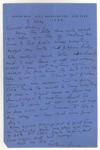 Letter from Katherine Anne Porter to Donald Elder, May 9, 1946