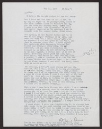 Letter from Katherine Anne Porter to Albert Erskine, May 12, 1939