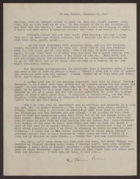 Letter from Katherine Anne Porter to Albert Erskine, December 09, 1937