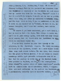 Letter from Katherine Anne Porter to Glenway Wescott, March 20, 1961