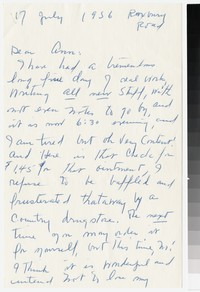 Letter from Katherine Anne Porter to Ann Holloway Heintze, July 17, 1956