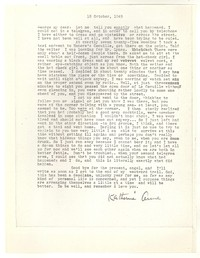 Letter from Katherine Anne Porter to George Platt Lynes, October 18, 1948