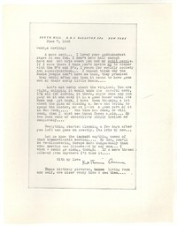 Letter from Katherine Anne Porter to George Platt Lynes, June 07, 1943