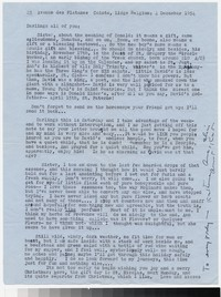 Letter from Katherine Anne Porter to Gay Porter Holloway, December 04, 1954