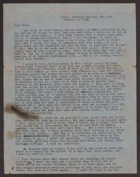 Letter from Katherine Anne Porter to Mary Alice Porter Hillendahl, January 11, 1942