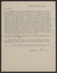 Letter from Katherine Anne Porter to Albert Erskine, January 21, 1938
