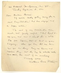 Letter from Katherine Anne Porter to Barbara Harrison Wescott, September 19, 1933