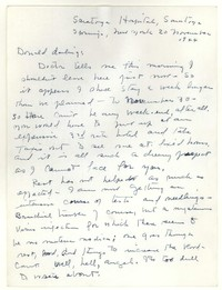 Letter from Katherine Anne Porter to Donald Elder, November 20, 1944