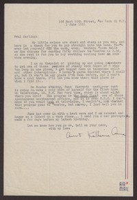 Letter from Katherine Anne Porter to Paul Porter Jr., June 01, 1951