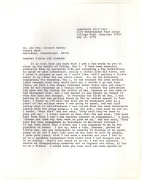 Letter from Katherine Anne Porter to Cleanth Brooks and Tinkum Brooks, May 12, 1975