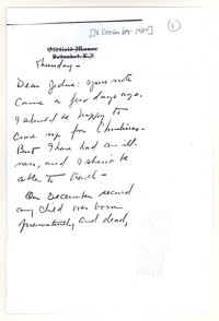 Letter from Katherine Anne Porter to Genevieve Taggard, December 18, 1924