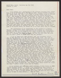 Letter from Katherine Anne Porter to Paul Porter Jr., January 07, 1943