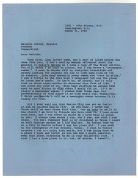 Letter from Katherine Anne Porter to Malcolm Cowley, March 16, 1965