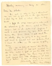 Letter from Katherine Anne Porter to Monroe Wheeler, May 30, 1932