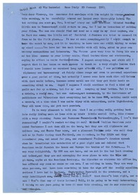 Letter from Katherine Anne Porter to Glenway Wescott, January 29, 1963