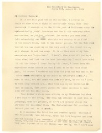 Letter from Katherine Anne Porter to Barbara Harrison Wescott, August 20, 1934