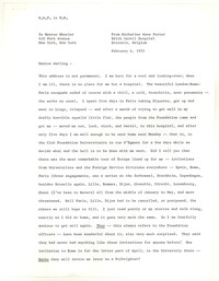 Letter from Katherine Anne Porter to Monroe Wheeler, February 04, 1955
