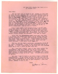 Letter from Katherine Anne Porter to William Humphrey, October 21, 1950