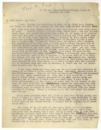 Letter from Katherine Anne Porter to Ford Maddox Ford and Janice Biala, November 20, 1935