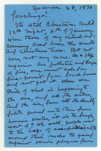 Letter from Katherine Anne Porter to Isabel Bayley and W. Hewitt Bayley, December 28, 1970