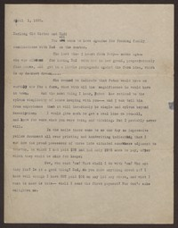 Letter from Katherine Anne Porter to Gay Porter Holloway and Harrison B. Porter, April 01, 1920