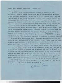 Letter from Katherine Anne Porter to Gay Porter Holloway, October 09, 1957