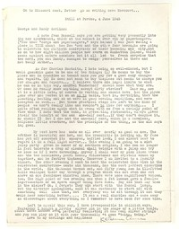 Letter from Katherine Anne Porter to George Platt Lynes and Randy (?), June 04, 1948