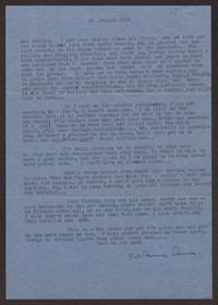Letter from Katherine Anne Porter to Ann Holloway Heintze, August 13, 1945