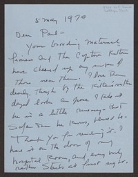 Letter from Katherine Anne Porter to Paul Porter Jr., May 05, 1970