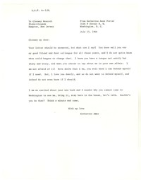 Letter from Katherine Anne Porter to Glenway Wescott, July 15, 1944