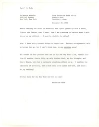 Letter from Katherine Anne Porter to Monroe Wheeler, December 29, 1955