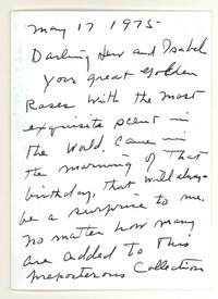 Letter from Katherine Anne Porter to Isabel Bayley and W. Hewitt Bayley, May 17, 1975
