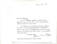 Letter from Katherine Anne Porter to Rolfe Humphreys, April 03, 1924