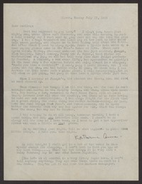 Letter from Katherine Anne Porter to Albert Erskine, July 12, 1939